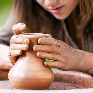 Toepferscheibe und Handwerkskunst