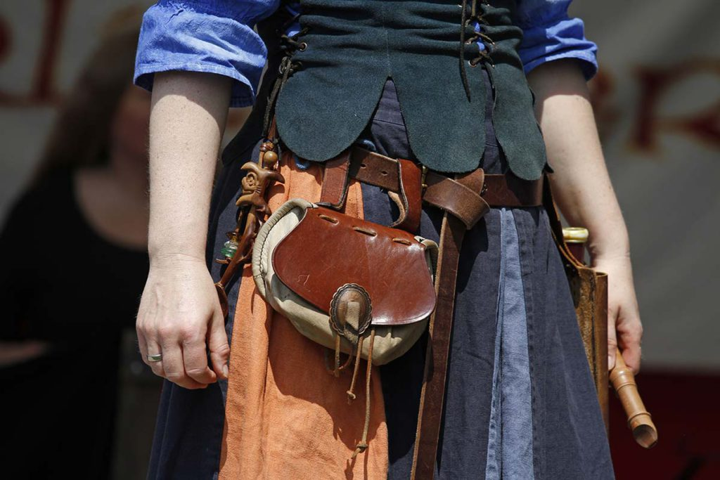 Marktfrau im Mittelalter