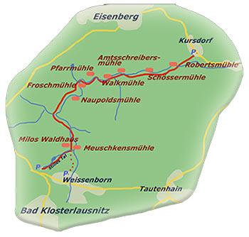 Karte Eisenberger Mühltal