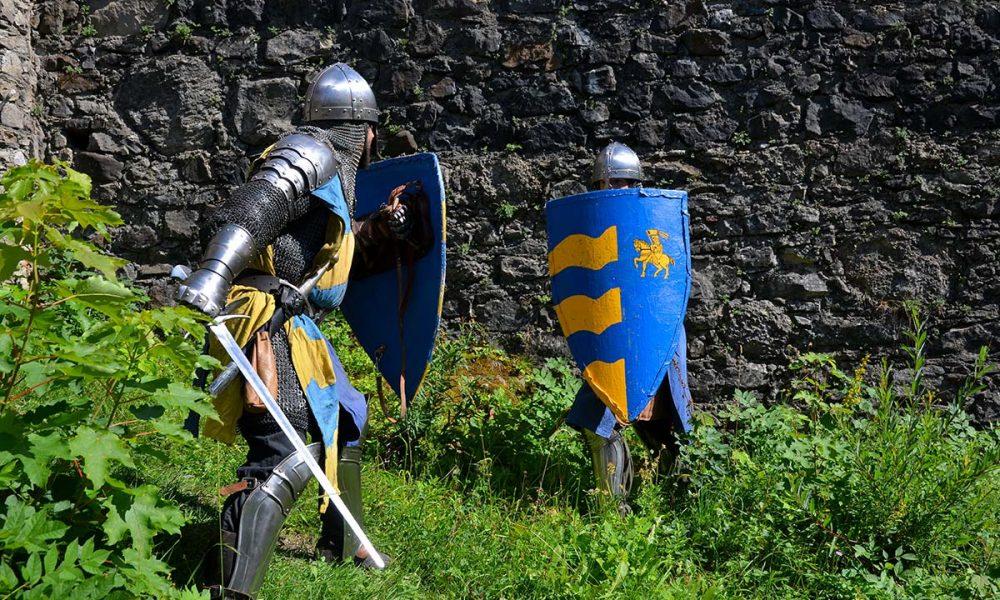 Ritter im Kampf