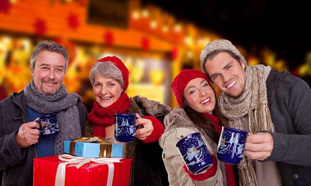 Weihnachtsmarkt in Familie