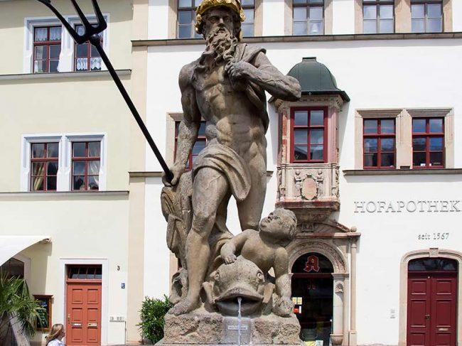 Der Marktplatz in Weimar